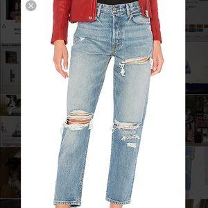Grlfrnd denim distressed jeans in Jesse's girl